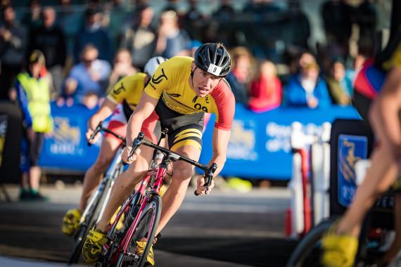 Der deutsche Triathlet Jonas Schomburg freut sich auf sein Heimrennen im Olympiapark
