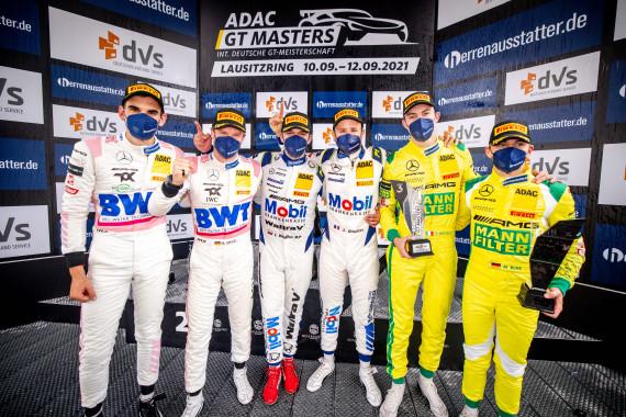 Auf dem Podest standen sechs Mercedes-AMG-Piloten