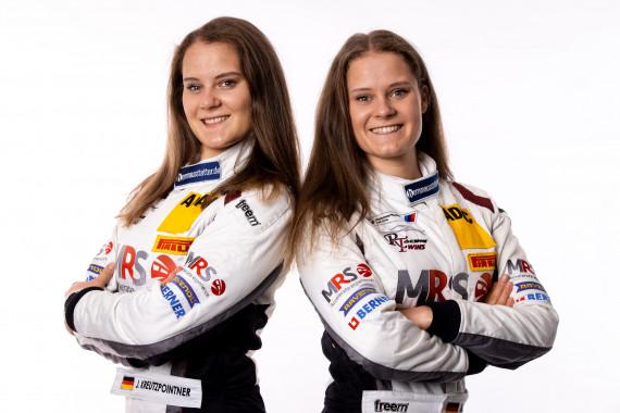Die Racing Twins: Jacqueline Kreutzpointner (li.) und Alesia Kreutzpointner