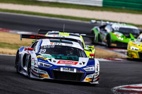 Führen die Gesamtwertung des ADAC GT Masters an: Ricardo Feller und Christopher Mies