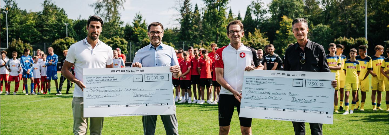 Porsche Fußball Cup 2021 Siegermannschaft RB Leipzig